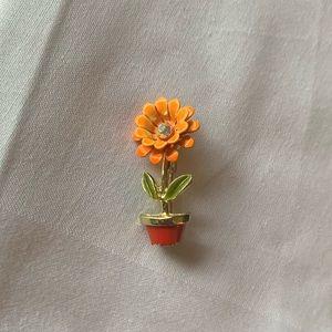 Vintage Flower Pot Brooch Pin